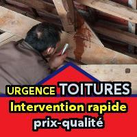 Fuite, toiture endommagée, tuiles cassées ou déplacées:  Dépannage et réparation rapide 7j/7