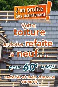 Votre toiture ardoise refaite à neuf ! Offre exceptionnelle*